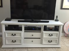 Dresser turned into TV console
