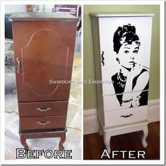 I want this!! ~ Aubrey Hepburn Armoir ~ but with Marilyn Monroe. Bird, we need to hit Goodwill while you're home