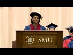 Former U.S. Secretary of State Condoleezza Rice gave the Commencement address at Southern Methodist University on May 12, 2012. She was introduced by SMU President R. Gerald Turner.