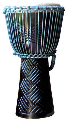 "Discount Djembes - Turquoise Ebony Weave Pro Djembe by Freedom Drums: 20"" x 10"", $99.00 (http://www.discountdjembes.com/turquoise-ebony-weave-pro-djembe-by-freedom-drums-20-x-10/)"