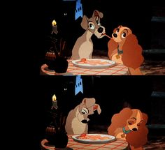 Lady & the Tramp meatball scene.
