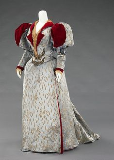 House of Worth, Evening ensemble, 1893, silk, linen, and metal