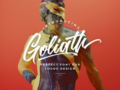 Goliath script font by Kavoon