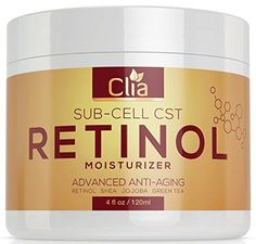 Retinol Night Cream Moisturizer for Face Eyes  Huge 4 Ounce  Natural Lotion w Vitamin C E Jojoba  AntiAging  AntiWrinkle Firming Cream for Fine Lines Wrinkles and Dry Skin *** ** AMAZON BEST BUY **