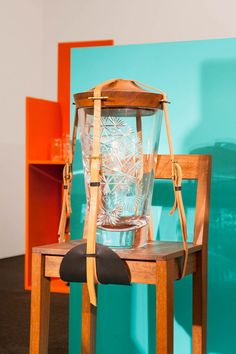 Crystal clear craft: Pop-Up: Sklo/Glass goes on show at Prague's new ZIBA museum Wallpaper Magazine, Design Museum, Designer Wallpaper, Pop Up, To Go, Crystals, Chair, Glass, Crafts