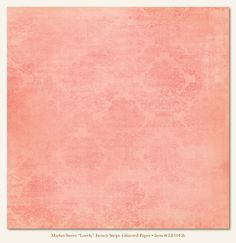"My Minds Eye - Lost & Found - Market Street ""Lovely"" French Stripe Glittered Paper"