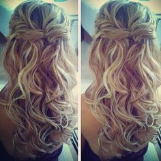 half up half down wedding hair with braid - Google Search