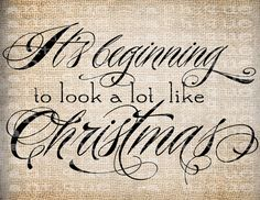 Antique Christmas Quote Scroll Fancy Ornate by AntiqueGraphique, $1.00