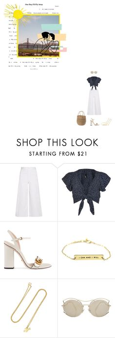 """""""New Age Lines"""" by subpop ❤ liked on Polyvore featuring Helmut Lang, Nobody's Child, Gucci, Jennifer Meyer Jewelry, Miu Miu and Summer"""