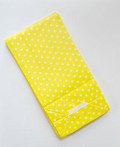 12 Mini Polkadot SOS Bag Yellow and White by TheSimplyChicShop, $1.85