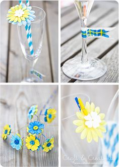 Pretty party decorations - by Craft & Creativity Swedish baby shower Wedding Flower Decorations, Christmas Decorations, Diy Party, Party Favors, Birthday Celebration, Birthday Parties, Swedish Dishes, Paper Crafts, Diy Crafts
