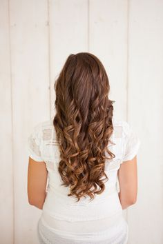 Exquisite Cascading Curls   The perfect waves for your boho bridal hairstyle.