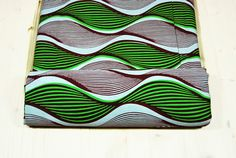 Tessuti Africani Wax Prints/Moda Africana online/Stoffe Africane Ingrosso/Vestiti Wax Print/Wax Tessuto Africano con Onde Rosso Verde/C.175 by SuomiiFabrics #italiasmartteam #etsy