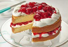 Sunshine Strawberry French Vanilla Cake