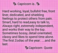 Capricorn is quote