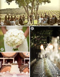 Our favorite theme featured on our Wine Wedding Wednesday post: The Vineyard Wedding! #WW #Wine