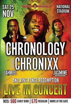 Sunshine Promotions 'CHRONOLOGY' ft Chronixx & the Zinc Fence Redemption