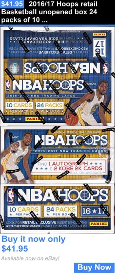 Sports Memorabilia: 2016/17 Hoops Retail Basketball Unopened Box 24 Packs Of 10 Nba Cards 1 Auto BUY IT NOW ONLY: $41.95