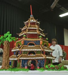 Winning Gingerbread Contest Categories | Gingerbread house by Empire Asian Restaurant and Lounge of Boston.