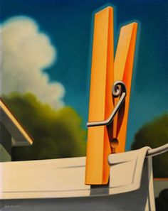 R. Kenton Nelson.  One of my favorite artists.  Too bad his unsigned prints go for 2k or more (if you can find them).  This would be perfect in my laundry room.