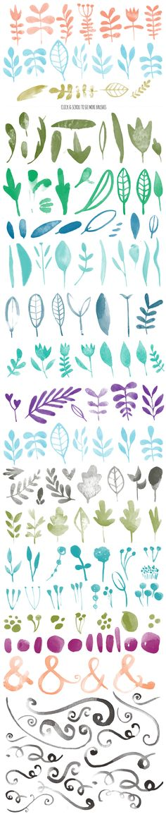 615 Photoshop Watercolor Brushes