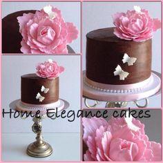 A Pink Peony flower Ganache cake!