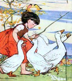 "Muriel Dawson, ""The Goose Girl"""