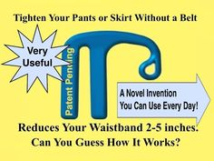 Skinny Clip™ Tightens Your Pants or Skirt without a Belt project video thumbnail