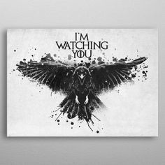I'm watching you poster by from collection. By buying 1 Displate, you plant 1 tree. Wall Art Prints, Canvas Prints, Print Artist, Cool Artwork, Moose Art, Canvas Art, Wall Decor, Fine Art, Metal