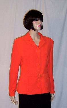 Gianni Versace Couture-Italy-Neon Orange Belted by PatriciaJon