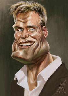 Dolph Lundgren. Awesome caricature!!!!!