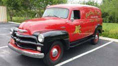 1954 Chevrolet 3800 One Ton Panel Truck Chevy Hhr, Chevrolet Trucks, Chevy Trucks, Trucks For Sale, Cool Trucks, Classic Trucks, Classic Cars, Hot Trailer, Day Van