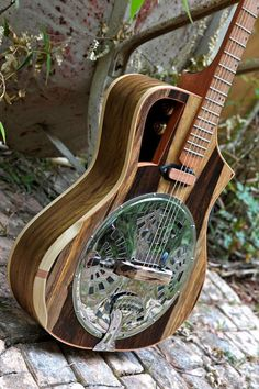 Electro acoustic Resophonic guitar Resonator door - RauloGuitars