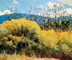 """Chamisa in Bloom"" E. Martin Hennings (1886-1956) Harwood Museum"