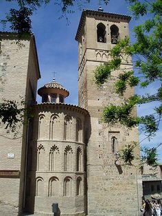 Torre y ábside de la Iglesia de Santa Leocadia o del Cristo de la Vega, en Toledo.