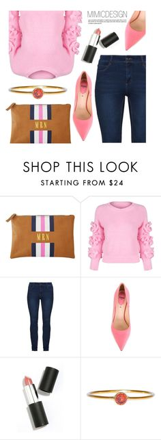 """""""Monogram Clutch"""" by mimicdesign ❤ liked on Polyvore featuring WithChic, Fendi, Sigma, Pink, Blue and monogramclutch"""