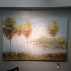 This tranquil scene has been hand painted on canvas and then stretched and applied to wooden stretchers. Due to the handcrafted nature of this artwork, each piece may have subtle differences.