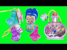 Shimmer and Shine Teenie Genies Series 1 Genie Bottles + Make-Up Set Nickelodeon - YouTube
