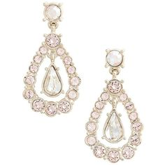 Women's St. John Collection Swarovski Crystal Drop Earrings ($150) ❤ liked on Polyvore featuring jewelry, earrings, gold, drop earrings, handcrafted earrings, rose earrings, rose gold jewelry and gold drop earrings