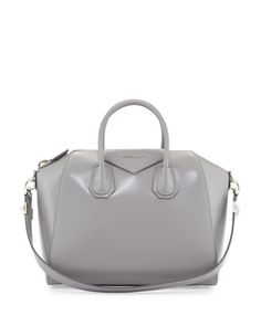 Antigona+Medium+Box+Satchel+Bag,+Gray+by+Givenchy+at+Bergdorf+Goodman.