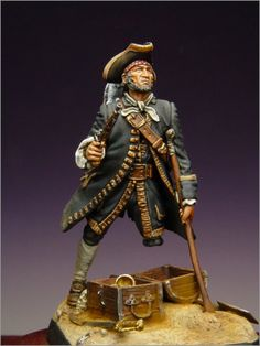 Long John Silver Pirate Art, Pirate Life, Modelos 3d, Black Sails, Jolly Roger, Fantasy Miniatures, Treasure Island, Toy Soldiers, Figure Painting