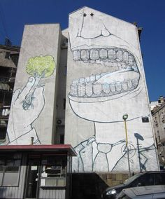 Street mural in Belgrade, Serbia |Pinned from PinTo for iPad|