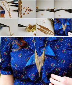 chain fringe diy necklace