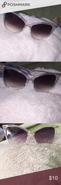 Clear Sunglasses w/ Tinted Lens Perfect condition. Worn once. Accessories Sunglasses