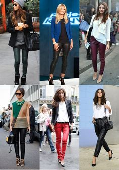 Style Me Friday Inspiration: Leather Pants (real or faux…and coated jeans work, too!)