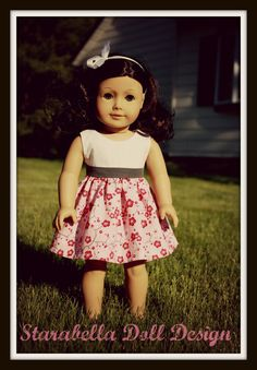 American Girl Cherry Blossom dress on Etsy.  $15.95