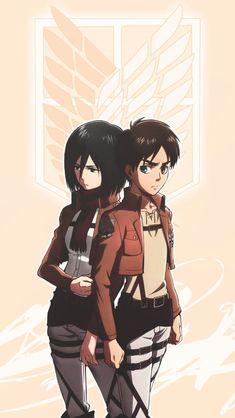 Mikasa y eren Eren X Mikasa, Armin, Aot Wallpaper, Attack On Titan Aesthetic, Manga Anime, Otaku, Grunge, Eremika, Rivamika