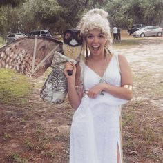 Pin for Later: 16 Ways to Wear a White Dress For Halloween The Goddess Athena