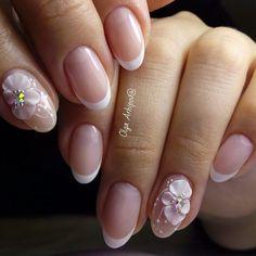 3d Nail Art, 3d Nails, Nail Arts, Bride Nails, Wedding Nails, Stylish Nails, Trendy Nails, Acrylic Nail Designs, Nail Art Designs