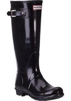 Hunter Boots - Original Glossy Rain Boot Black